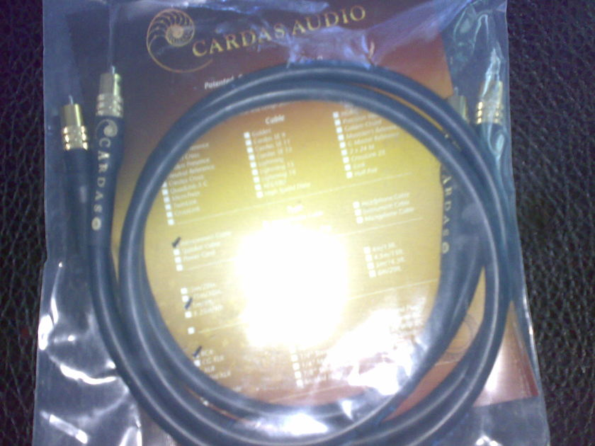 Cardas  Golden reference 1m RCA pair used