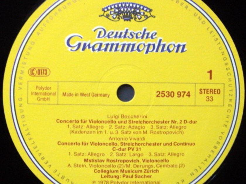 DG / ROSTROPOVICH/SACHER, - Vivaldi-Tartini-Boccherini Cello Concertos, MINT!