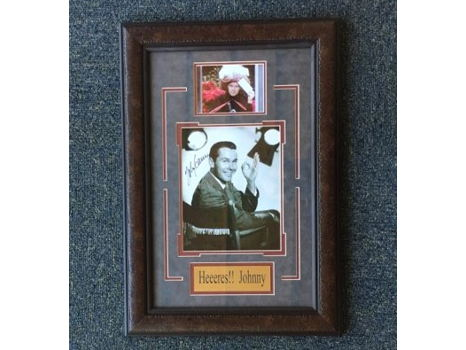 Johnny Carson Autographed Collage