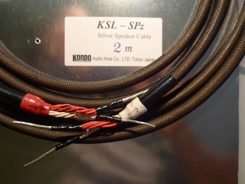 Audionote Kondo KSL-SPZ Silver Speaker cable -2M