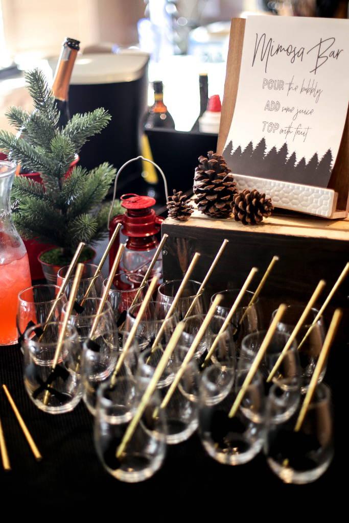 diy birthday party, mimosa bar, diy mimosa bar, party favors, baby bear, baby bear first birthday, designtwentyfive