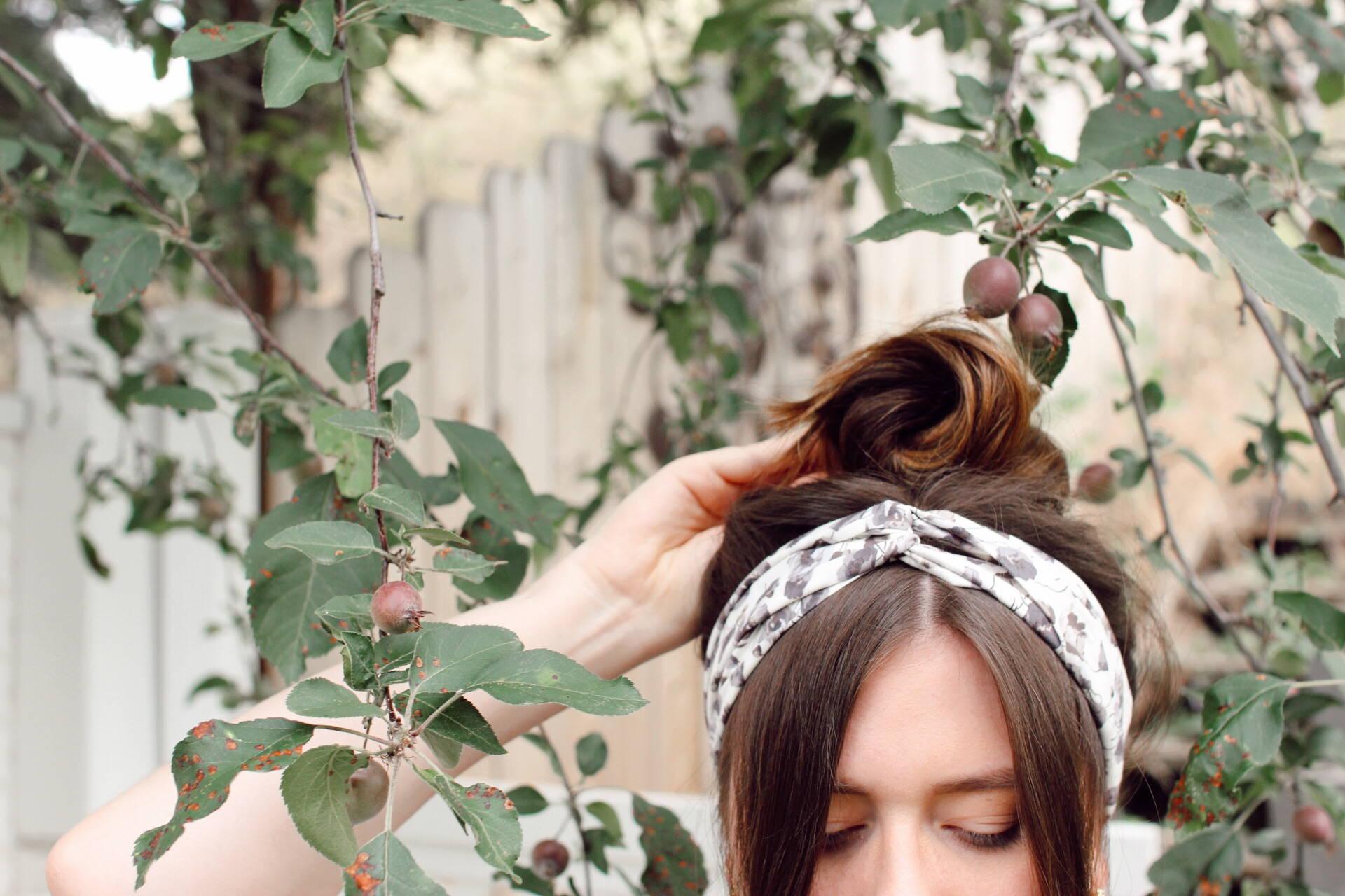 Davines messy bun summer hair tutorials