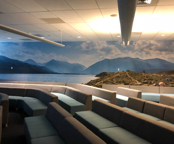 Interior Vinyl Wall Wrap -  Beach and Mountains Wall Wrap