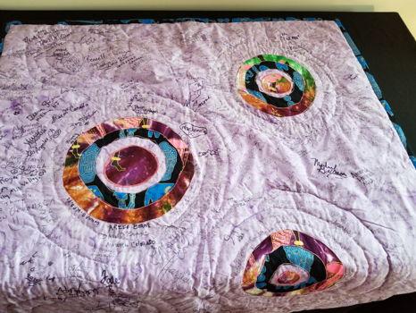401 Cely Pedescleaux Purple Circles Quilt