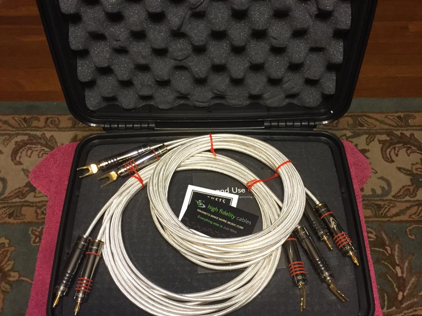 High Fidelity Cables CT-1 Speaker Cables 3.5m, bananas and  spades, demo