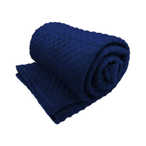 Sensory minky weighted blanket for a dog