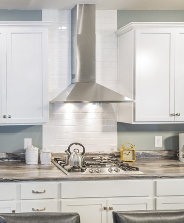 Subway Tile with Hood Fan