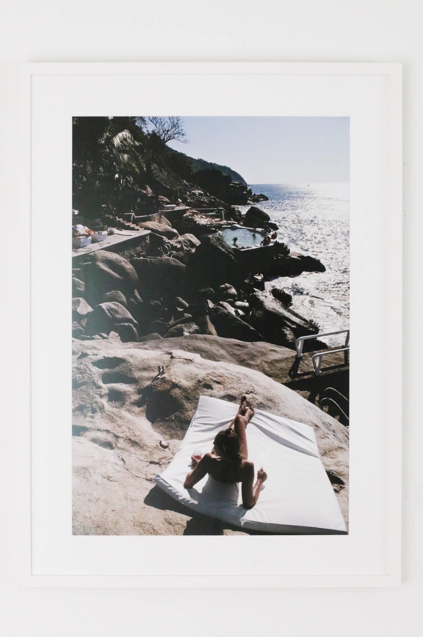 Las Brisas by Slim Aarons - Framed in white frame