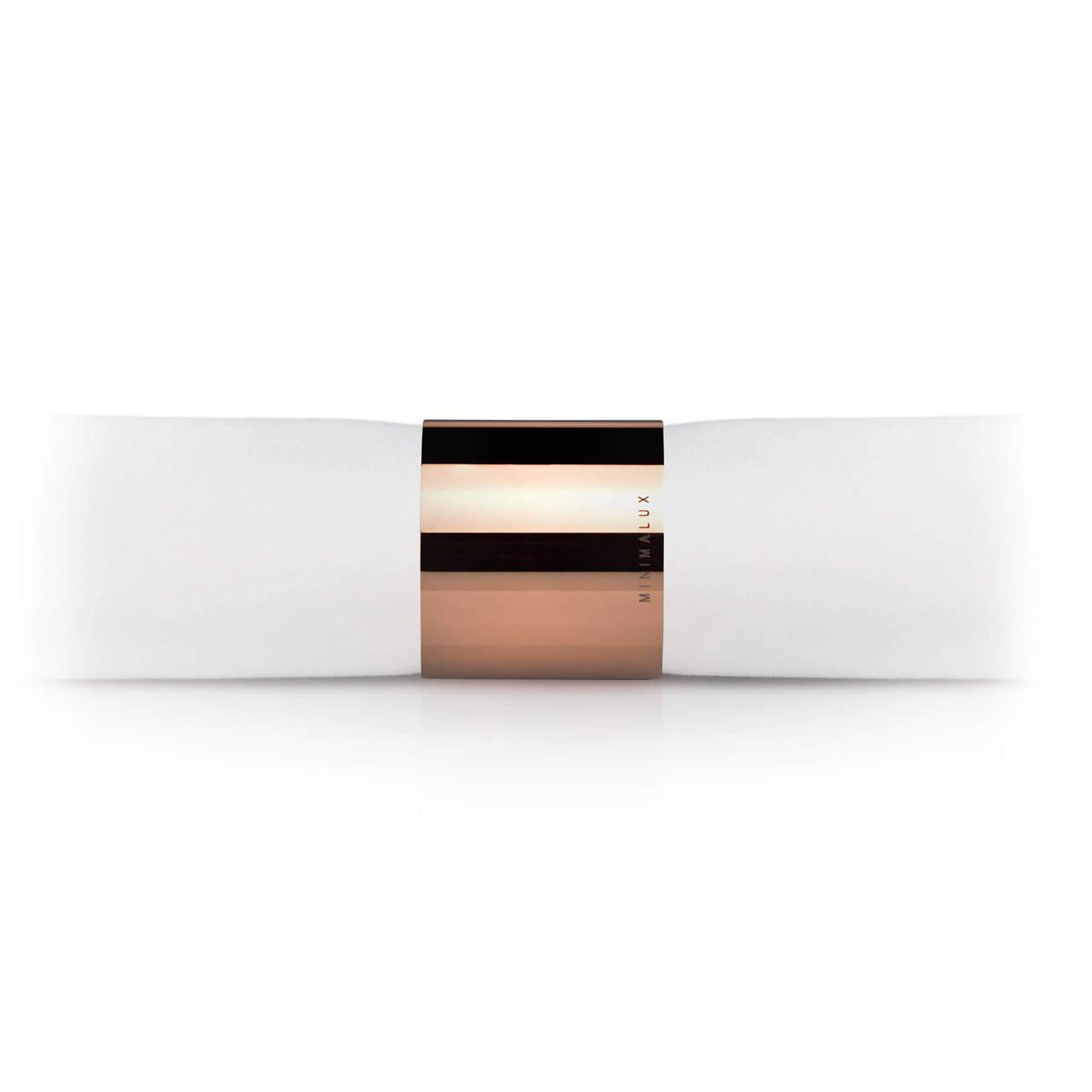 Tube Napkin Ring in Copper