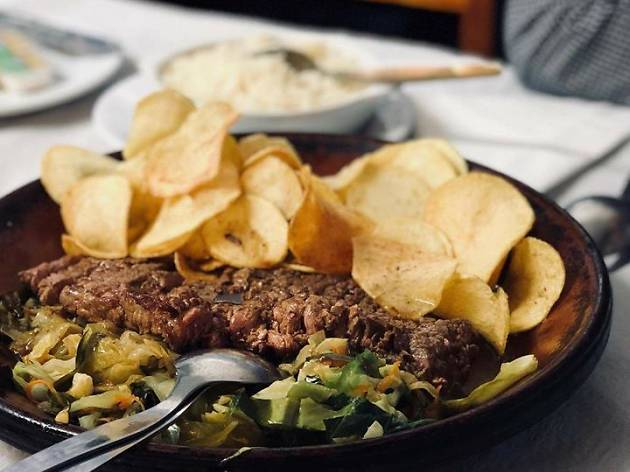 Our team picks the steak in Churrasqueira Paraíso as one of the typical foods to eat in Porto.