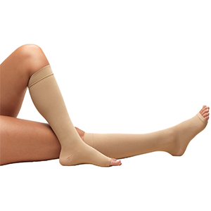 Knee High Open Toe Anti-Embolism Stockings in Beige