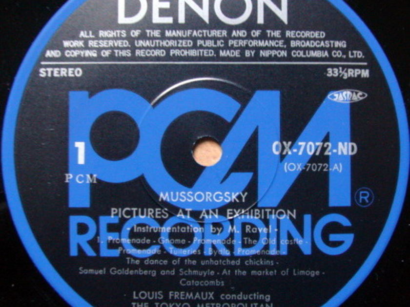 ★Audiophile★ Denon PCM / FREMAUX, - Moussorgsky Pictures at an Exhibition, NM-!