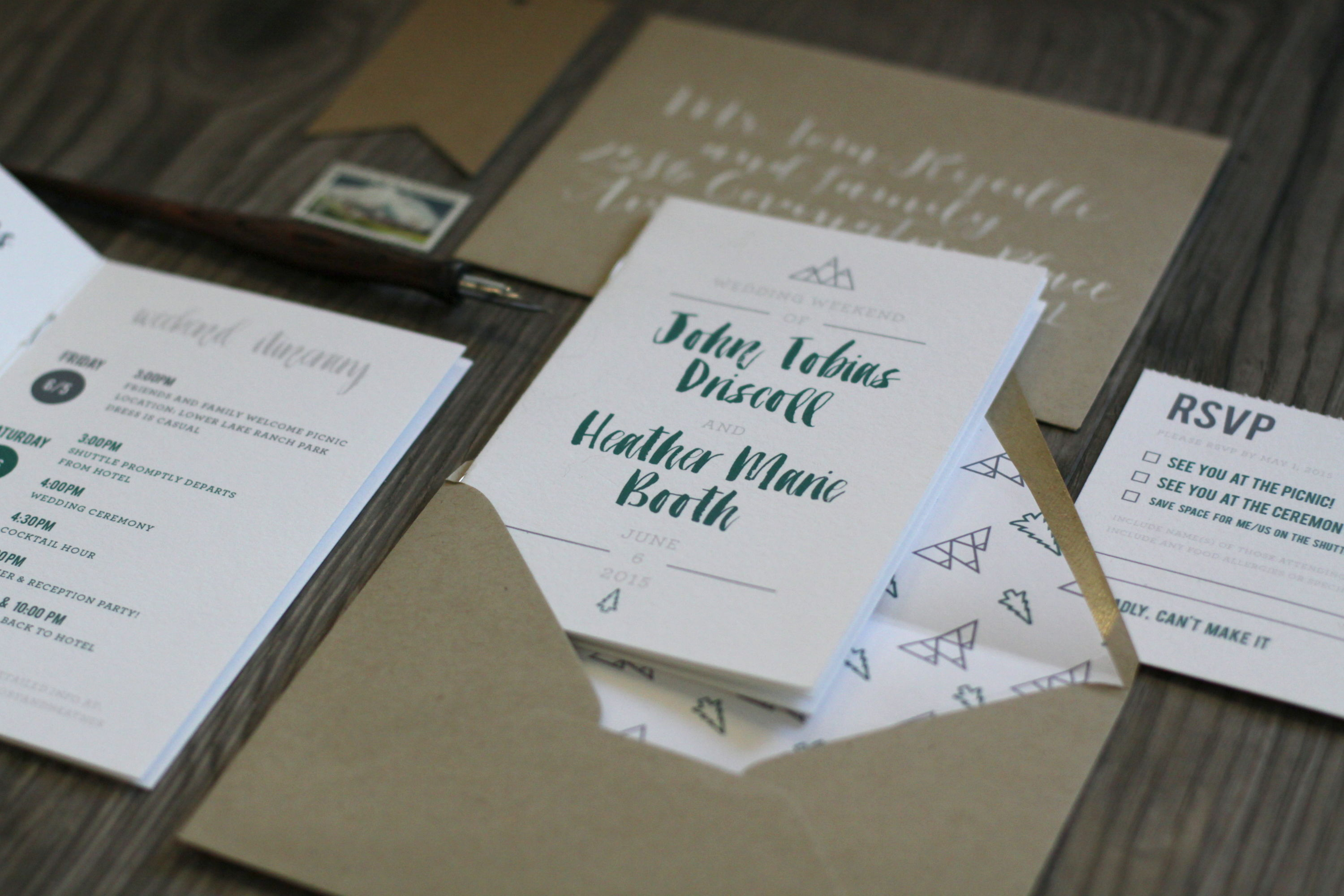 WEDDING INVITATIONS | Rock Paper Scissors
