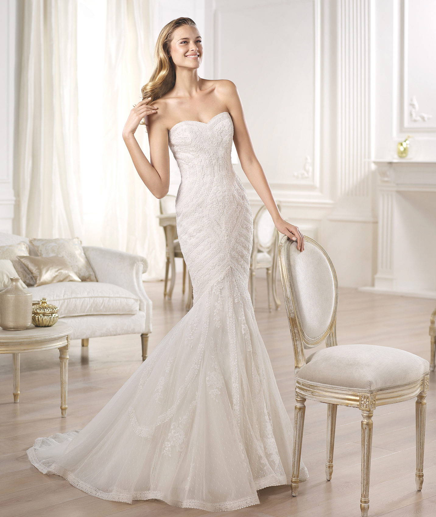 PRONOVIAS OMBERA WEDDING DRESS