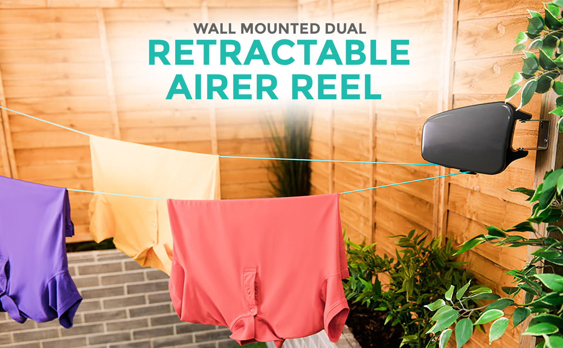 Wall-mounted Retractable Airer Reel