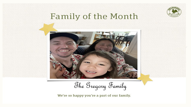 May's family of the month!