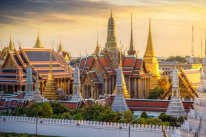 Temples in Bangkok and village life outside the city