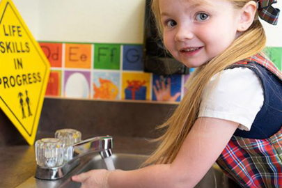 preschool child student handwashing health and safety COVID-19 procedures
