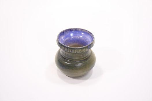 Вазочка миниатюрная, серо-синяя