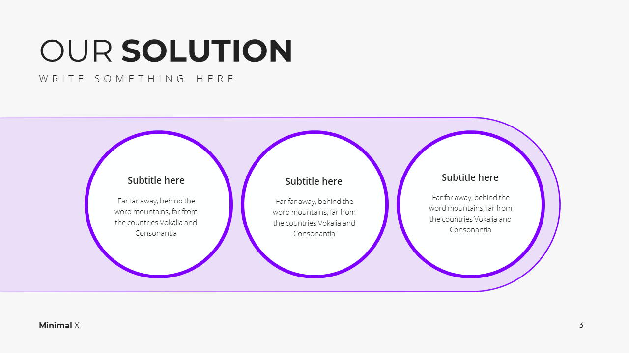 Minimal X  Pitch Deck Presentation Template Solutions