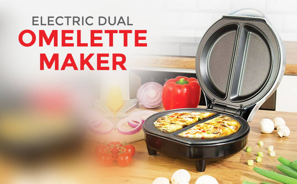 Electric Dual Omellete Maker