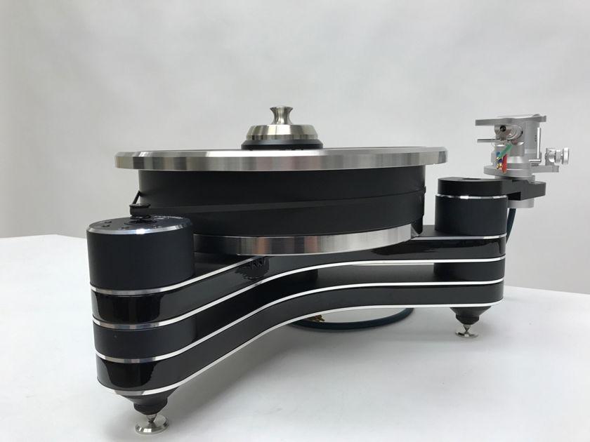 "Clearaudio Innovation Wood Gloss Black w/ Universal 12"" tonearm PRICE DROP"
