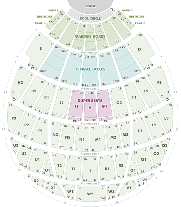 Seating chart at hollywood bowl for Terrace 5 hollywood bowl