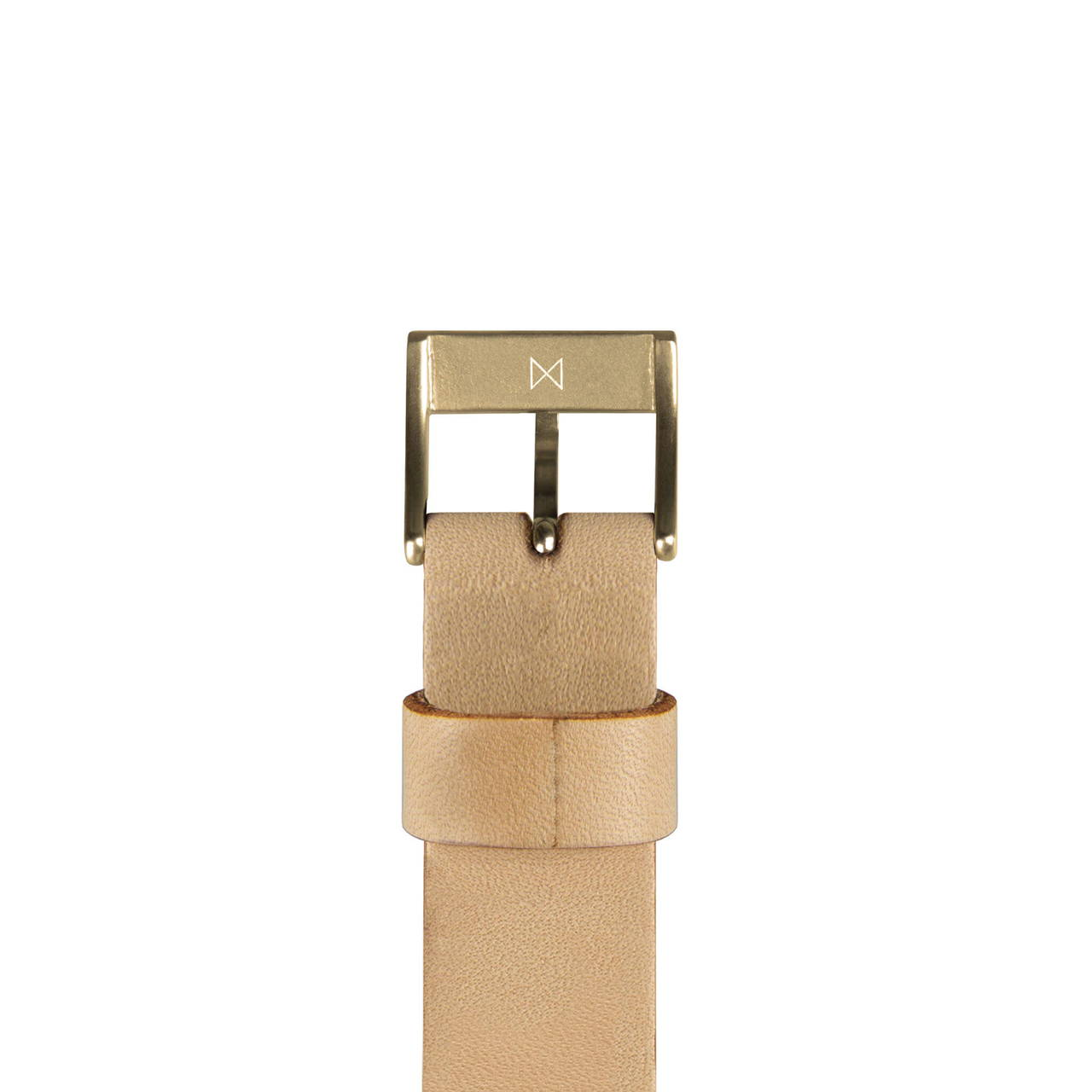 Timeless Brass Buckle and Tan Leather Strap