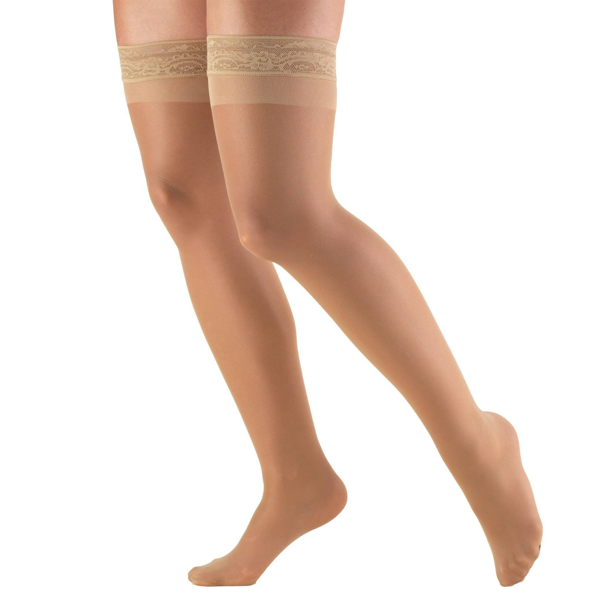 Ladies' Thigh High Closed Toe Sheer Stockings