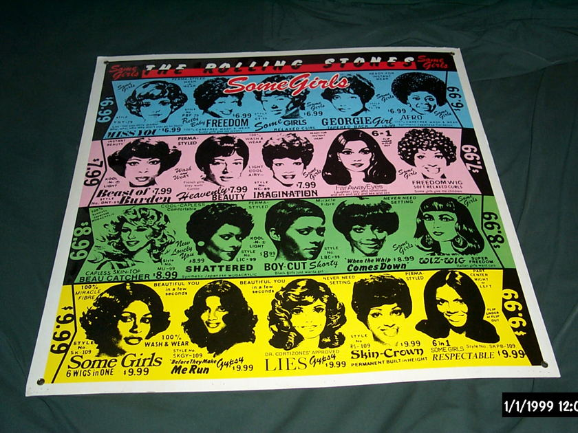 Rolling Stones - Promo Some Girls Poster Original 1978