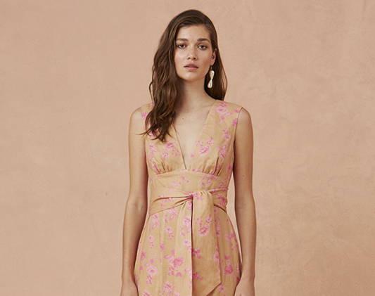a woman wears a summer dress