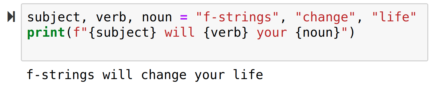 Why is there an f before this string? An introduction to f