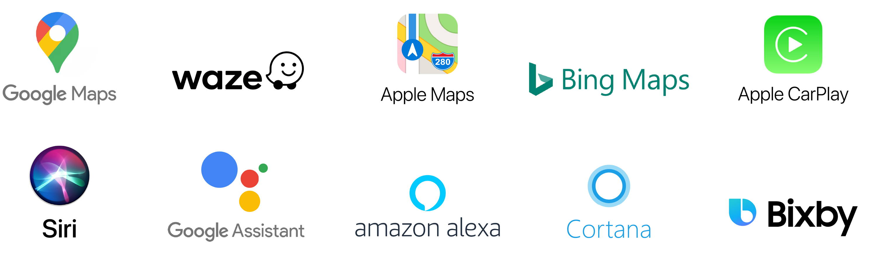 Google Maps and other major map and voice search platforms