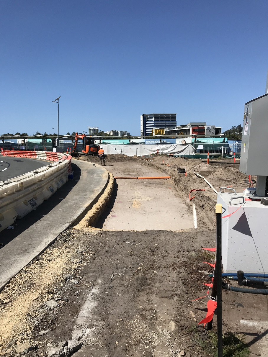 Roadworks intersected with and impacted on the major arterial road into the airport - Terminal Drive.