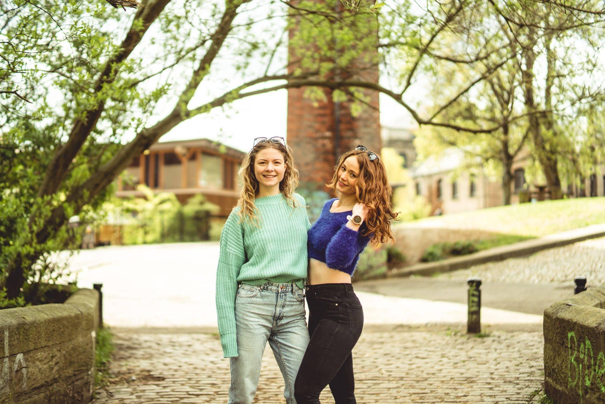 Image of two girls hugging