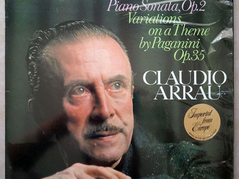 PHILIPS   ARRAU/BRAHMS - Piano Sonata Op. 2, Variations on a theme by Paganini Op. 35 / NM