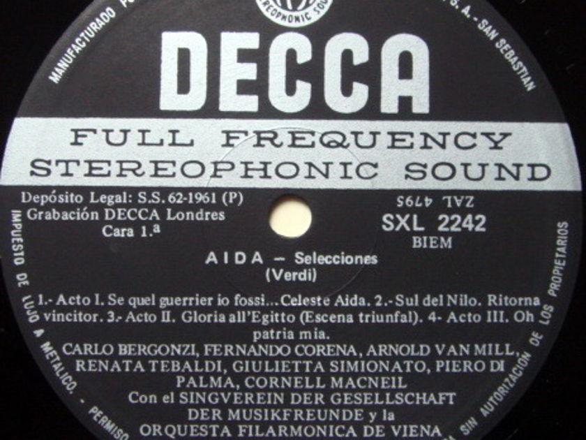 DECCA SXL-WB / KARAJAN-TEBALDI, - Verdi Aida Highlights, NM!