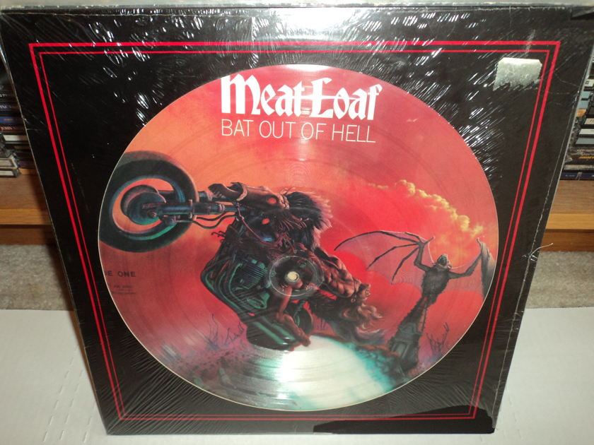 Meat Loaf Picture Disc - Bat Out of Hell Sealed LP Rare