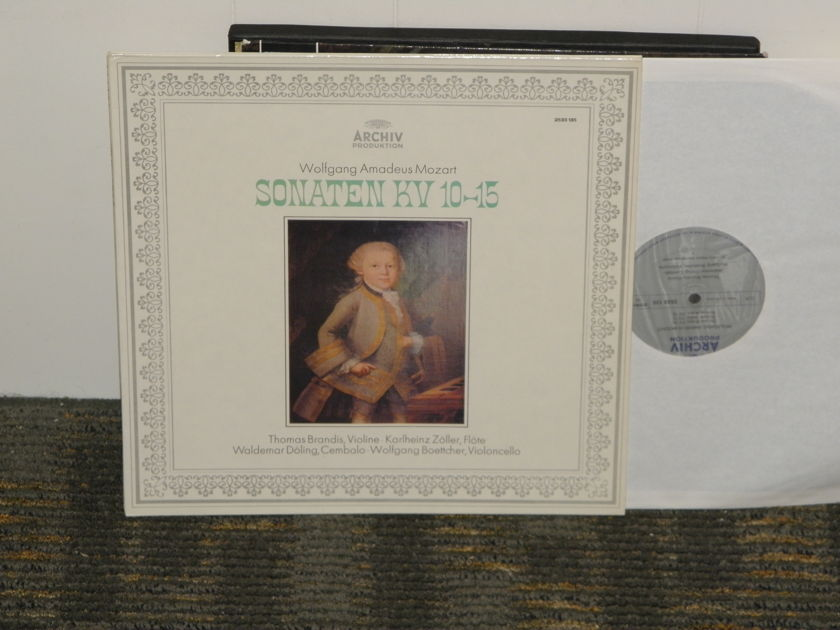 "Brandis/Zoller/Doling/Boettcher - Mozart ""Sonaten KV 10-15"" Archiv 2633 135 Silver Foil labels  German import"