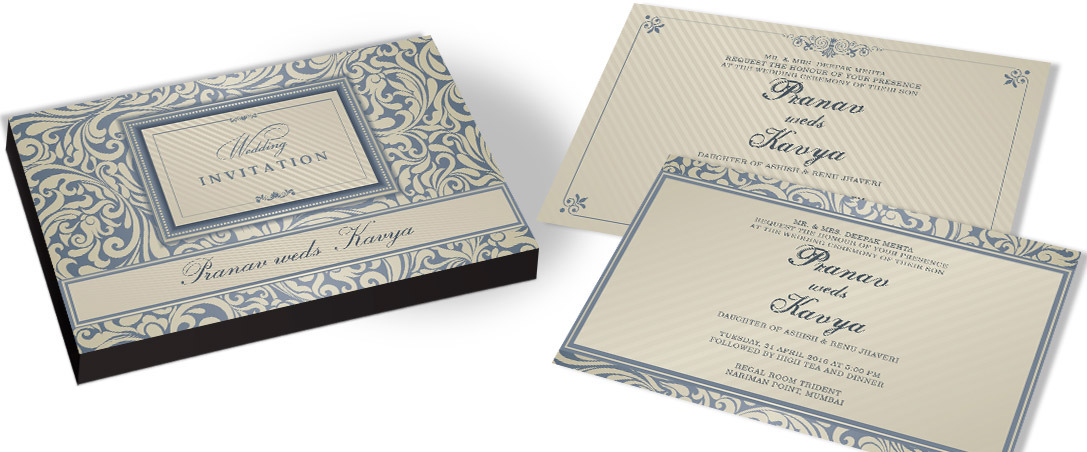 Fancy Marriage Invitation