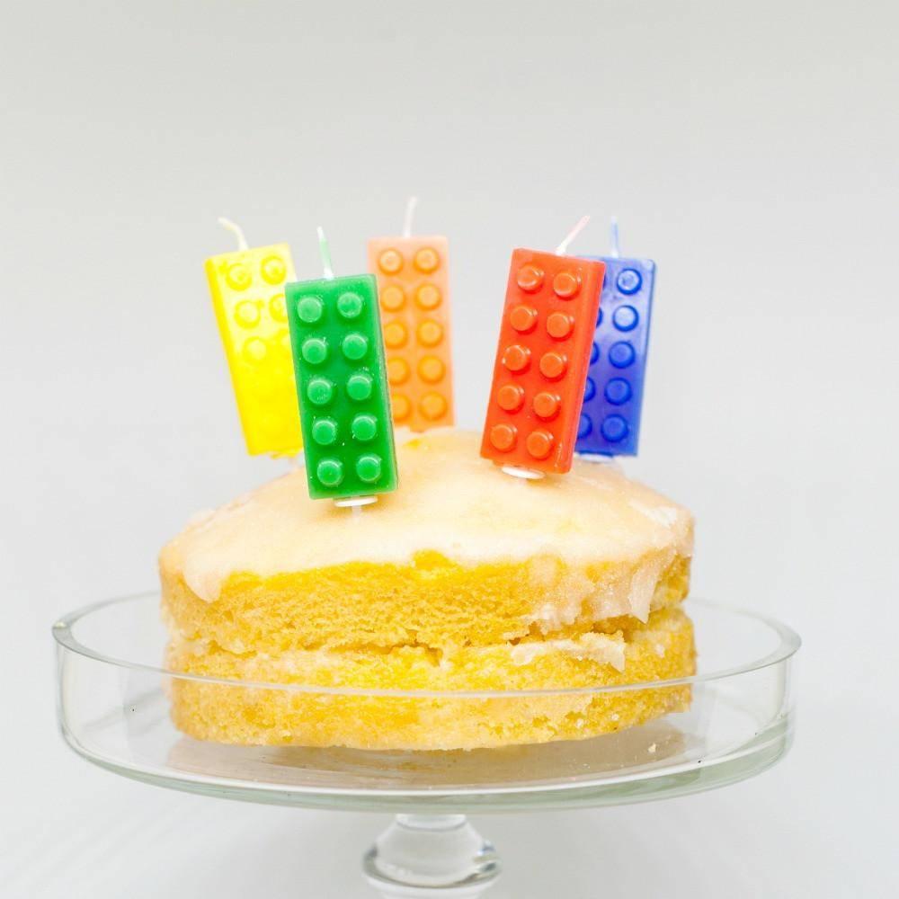 lego candle cakes