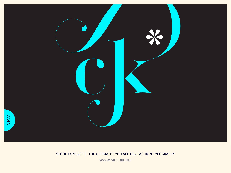 Segol Typeface, ck ligatures, fashion fonts, best fonts 2021, Must have fonts 2021, Moshik Nadav, Fashion logos, Vogue fonts