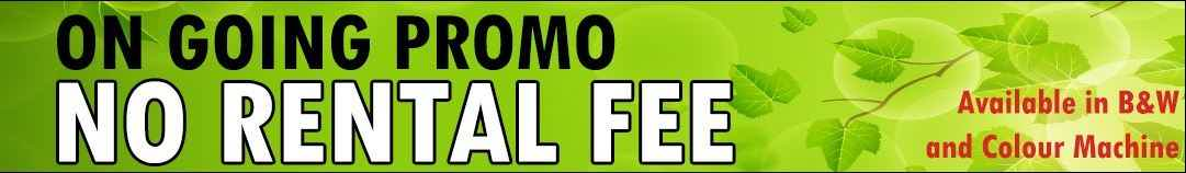 on going promo rental fee
