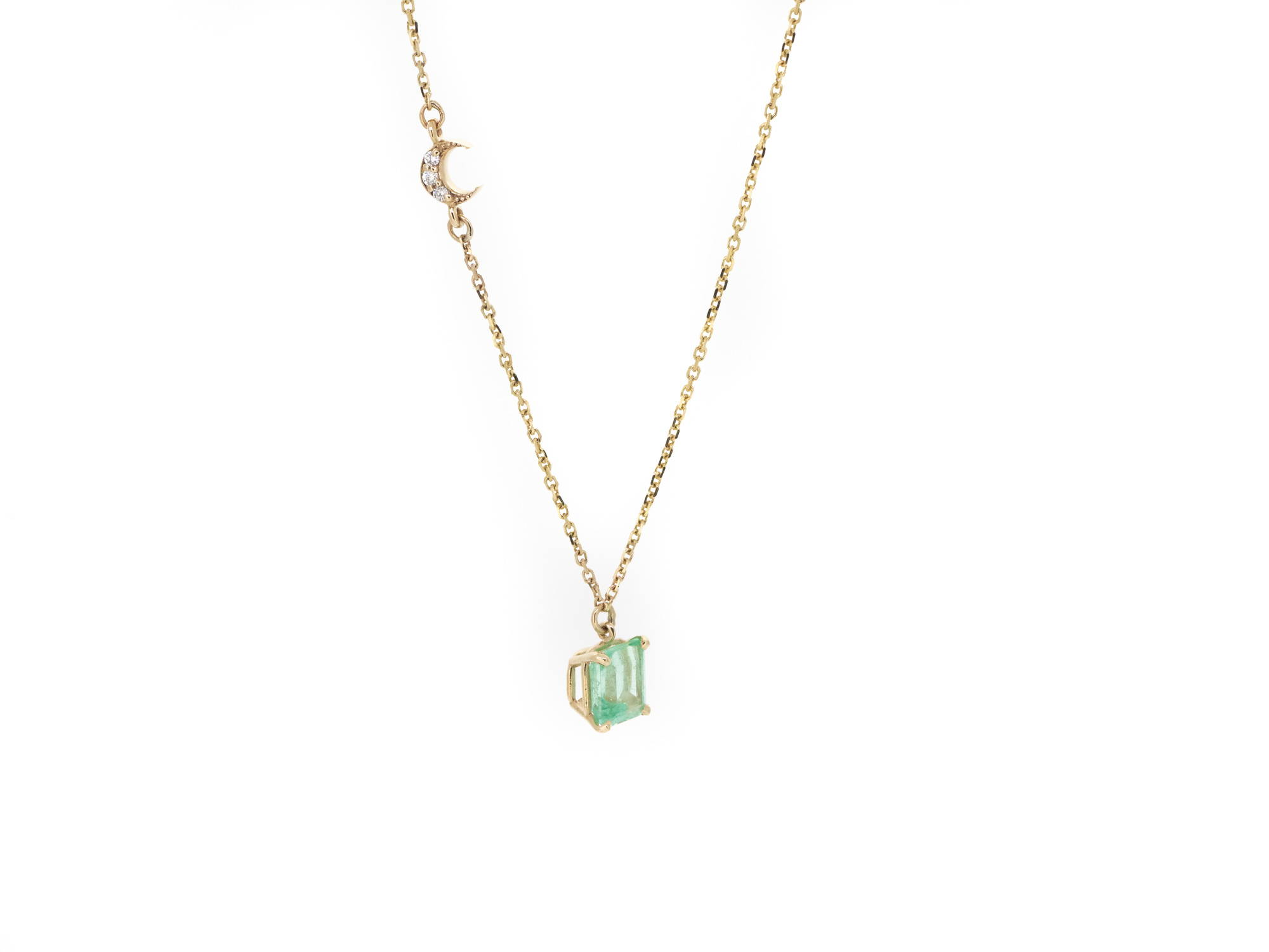 emerald pair necklace