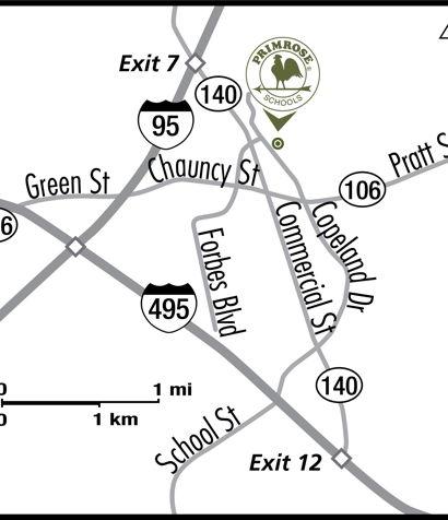 Location Map of Primrose School Of Mansfield