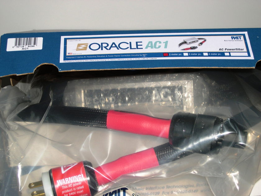 MIT Oracle AC1 Power Cable. NEW-IN-BOX Wrnty.