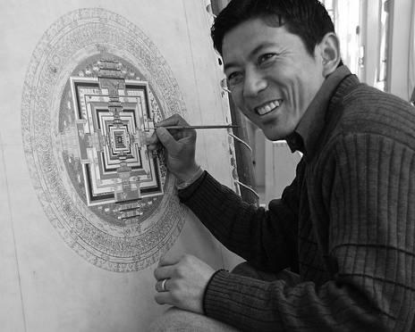 Thangka Artist Tenzin Norbu