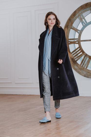 Пальто черное Bonali 7013-0579