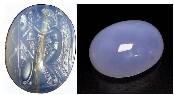 Blue chalcedony yves lemay jewelry