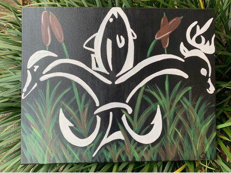 Louisiana Sportsmen Painting